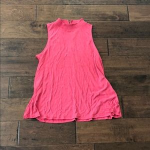 Loft Coral Sleeveless Top. Size M. NWOT.